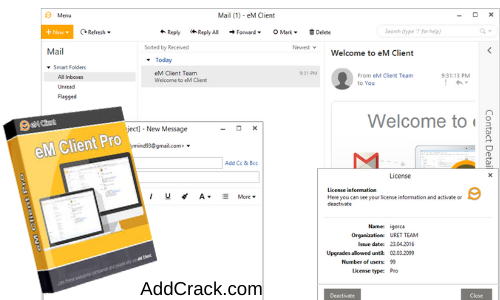 eM Client Pro 8.1.979.0 Crack With Activation Key Free Download[2021]